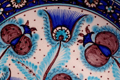 ferghana valley art craft tours, rishtan blue ceramics