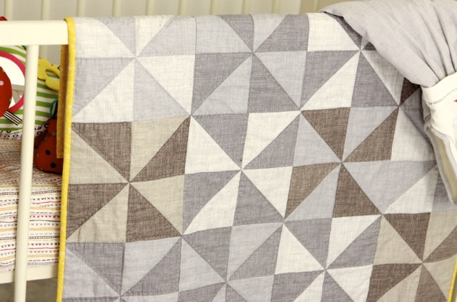Windmill baby quilt
