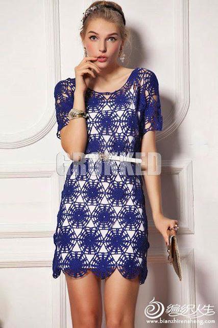 sukienka z motywow szydelkiem