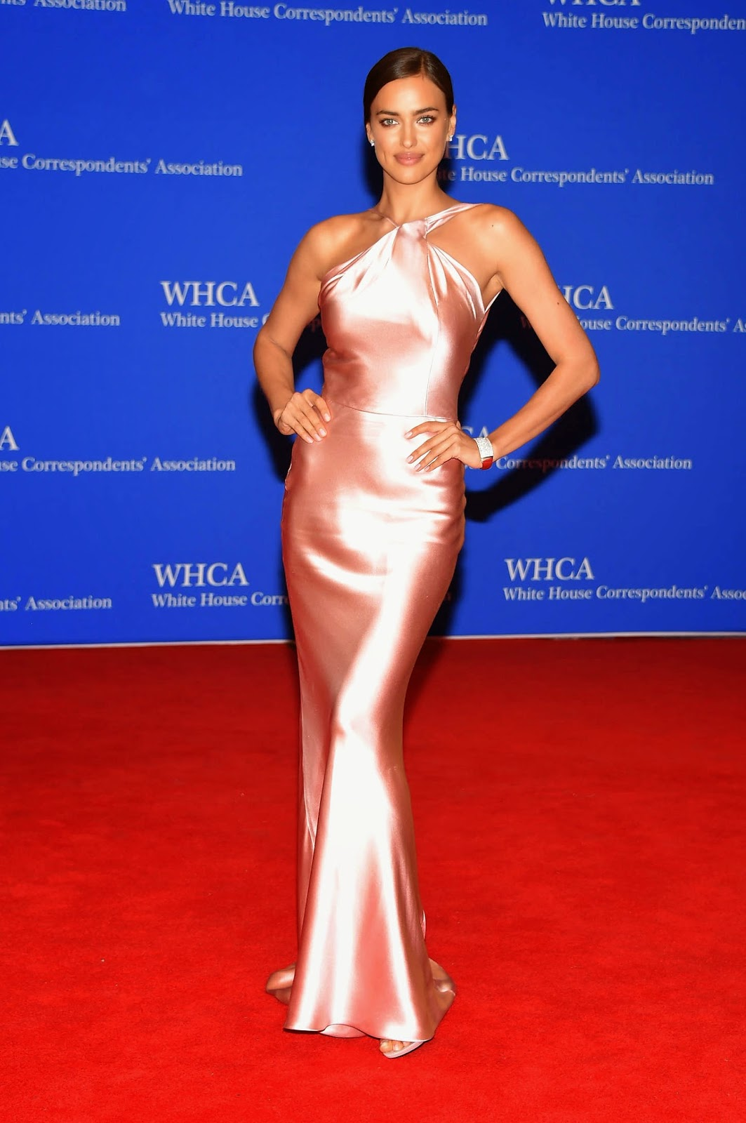 Irina Shayk In A Slinky Figure Hugging Dress At The 2015