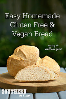Homemade Crusty Gluten Free Vegan Bread Recipe Artisan Style