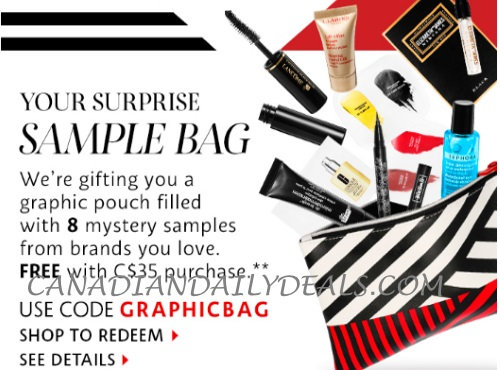 Sephora Free Surprise Sample Bag + Hoiday Access + Up To 4x Beauty Insider Points