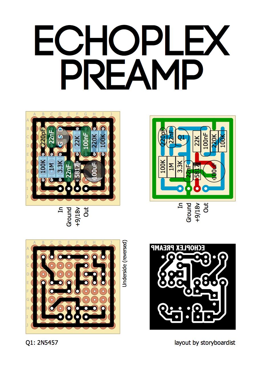 Echoplex Preamp: analysis y mods