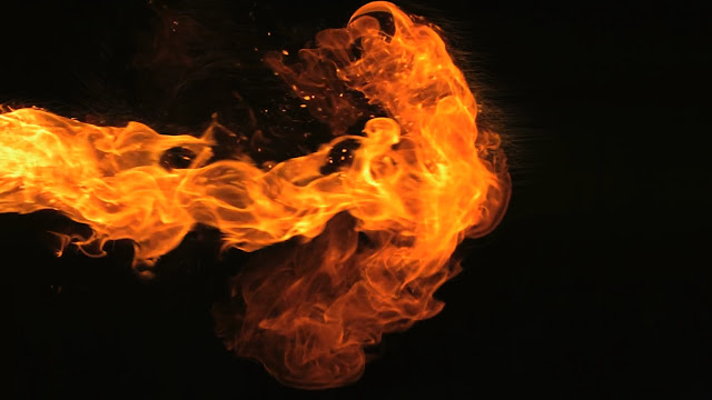 Fire effect video