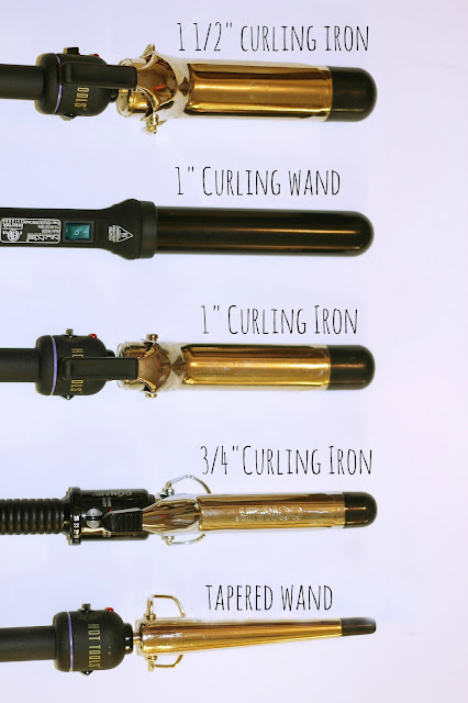 How to curl with different curling irons