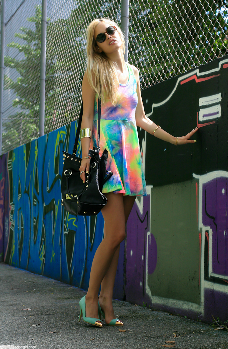 tye dye dress on blogger