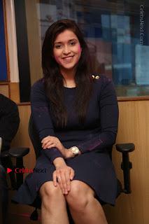 Actress Mannara Chopra Stills in Blue Short Dress at Rogue Song Launch at Radio City 91.1 FM  0057.jpg