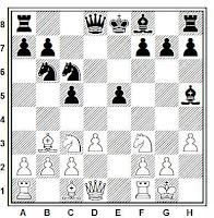 Mate de Legal (aplicación en la partida de ajedrez Huber vs. Lemke)