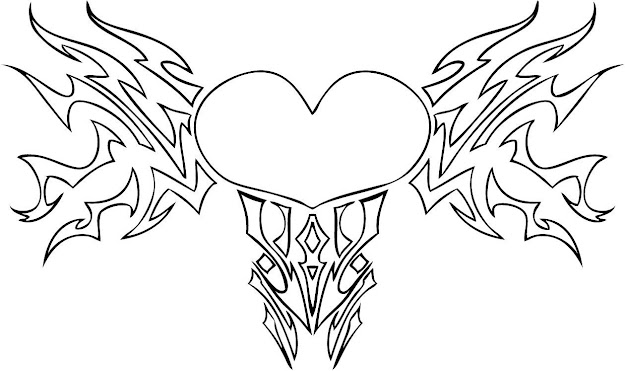 Free Printable Heart Coloring Pages For Kids With Amazing Hearts With Wings Coloring  Pages