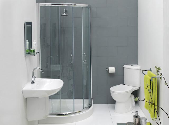 Contoh kamar mandi minimalis dengan shower pada desain rumah minimalis tipe 36