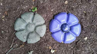 Make A Garden Flower From Concrete
