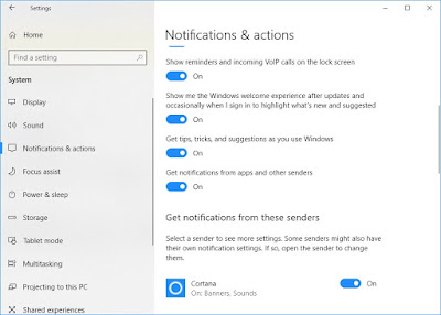 Manage notification settings in windows 10 : Intelligent computing