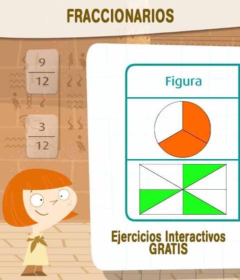 FRACCIONARIOS: 3 Aplicaciones interactivas, incluye resolución de problemas
