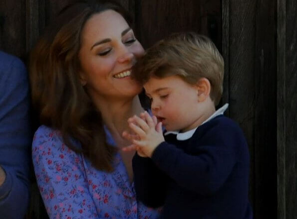 Kate Middleton wore Ghost Anouk floral dress. Princess Charlotte wore floral print dress by  Amaia Kids. Lily Rose