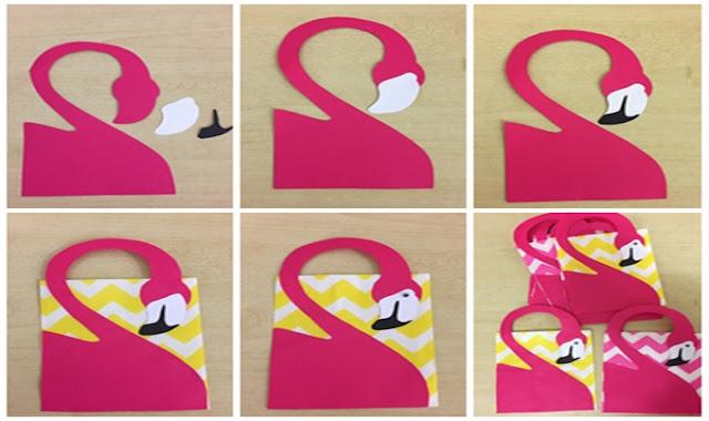 saquinho surpresa de flamingo