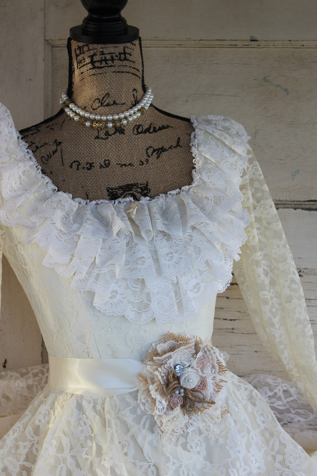 GypsyFarmGirl: New Burlap and Lace Corsages / Boot Cuff / Sashes and ...