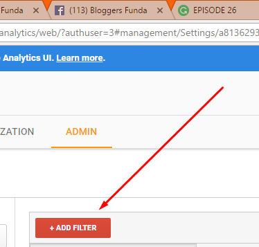 """Step 3: Click """"+Add Filter"""" as shown here."""