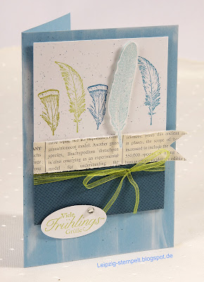 Osterkarte, Fine Feathers, Stampin up