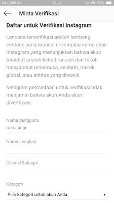 Cara mendapat centang biru di instagram  Cara Mendapatkan Centang Biru Instagram Terbaru 2019, Biar Kayak Artis