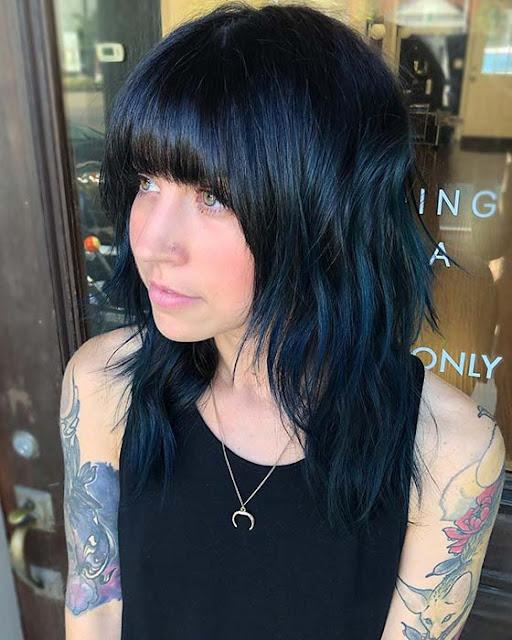 21 Stunning Blue Black Hairstyles Ideas To Rock In Asap Fashionuki