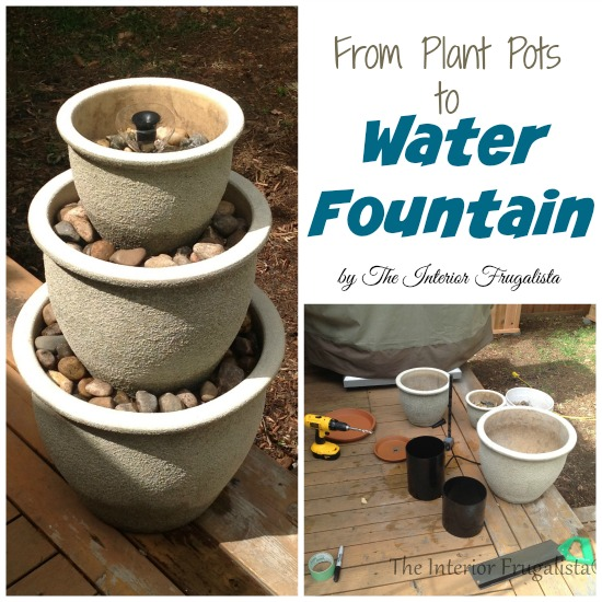 How to build a water fountain out of plant pots
