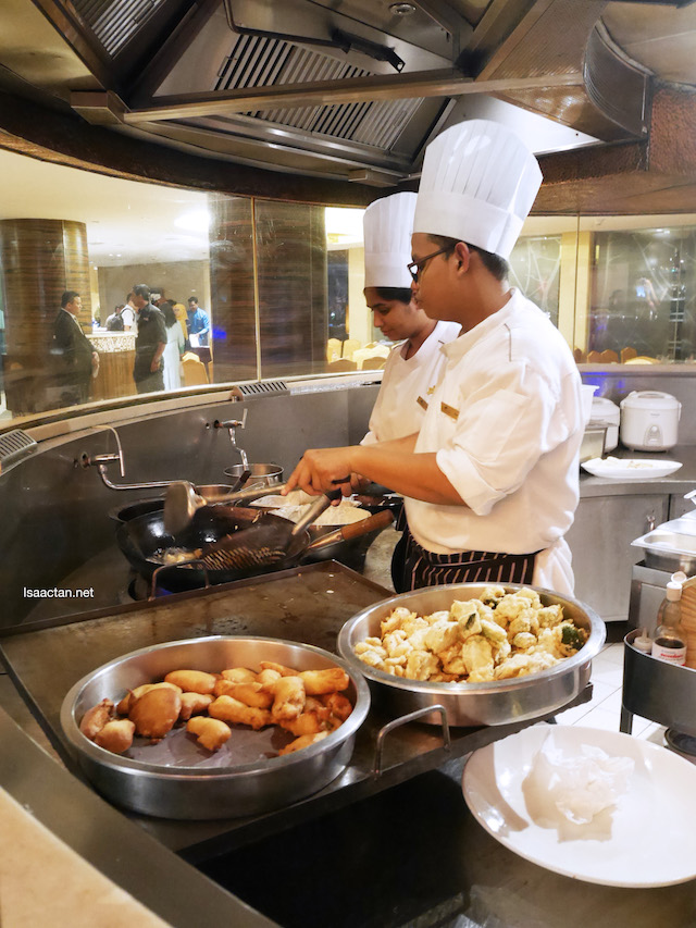 Live stations, where the chefs will prepare your food ala-minute