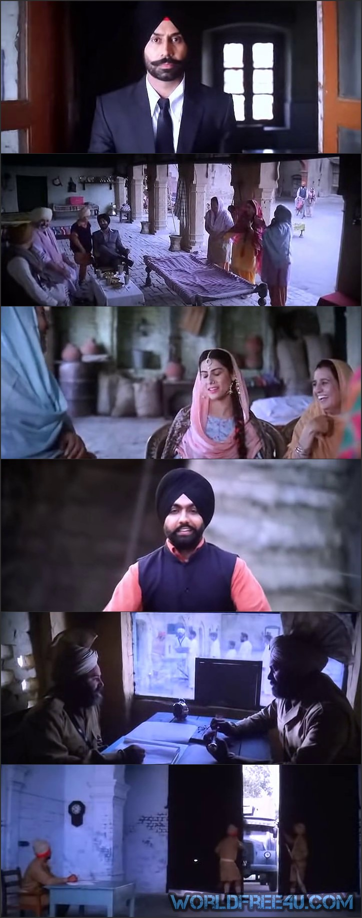 Screen Shot Of Bambukat 2016 300MB Pdvd Full Punjabi Movie Watch Online Free Download