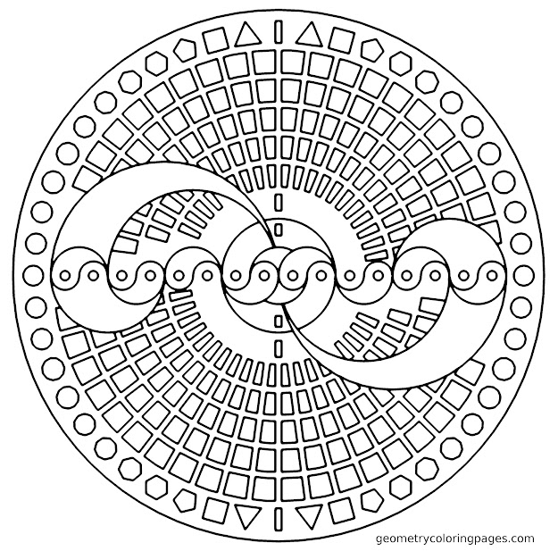 Free Geometric Coloring Pages For Adults Desig