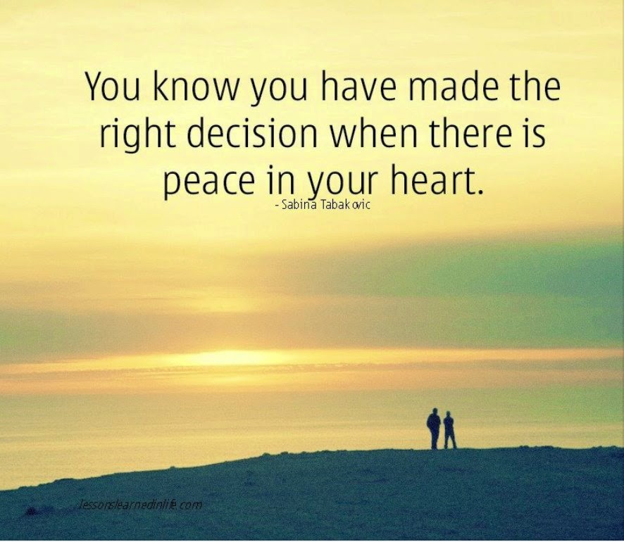 Making The Right Decision In Life Quotes: September 2014