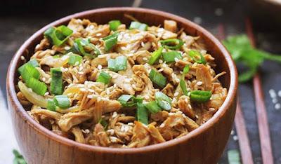 Resep dan Cara Membuat Ayam Suwir Teriyaki