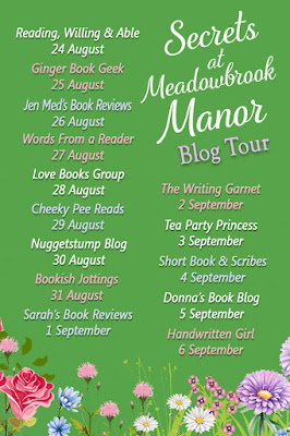 Secrets at Meadowbrook Manor Blog Tour Banner
