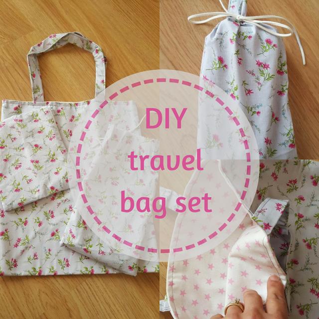 DIY travel bag set