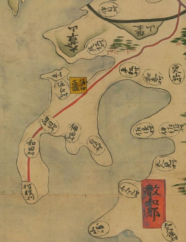 国立公文書館デジタルアーカイブからダウンロード可能な正保遠江国絵図の庄内半島拡大図