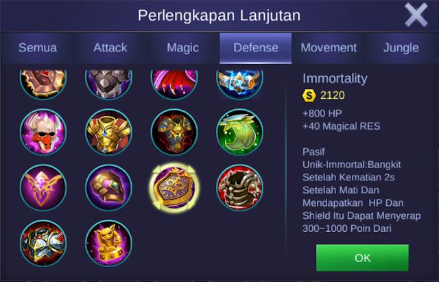 item immortality mobile legends bang bangs