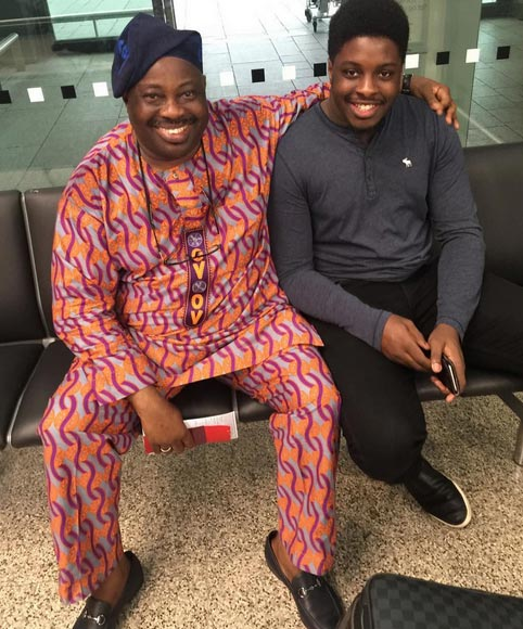 Check out these photos of Dele Momodu and family at London airport