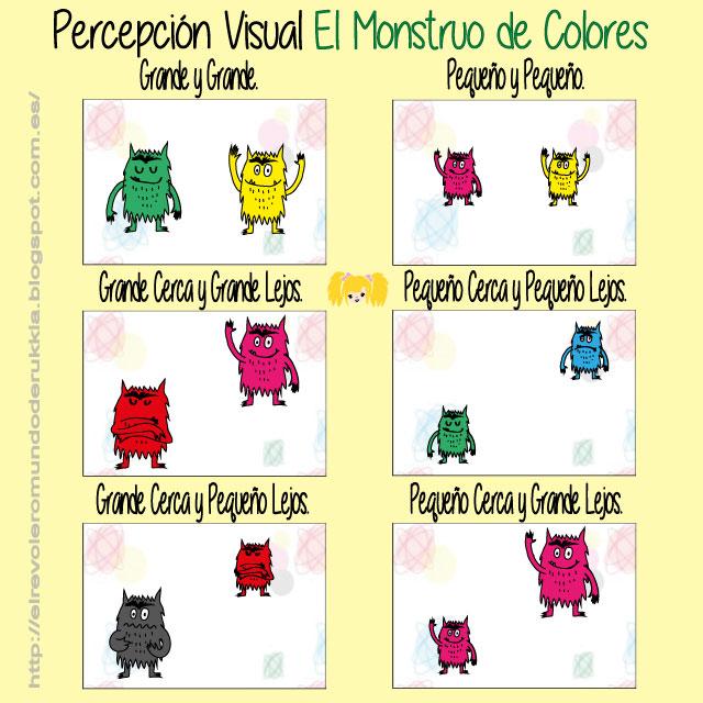 Juego De Percepcion Visual Del Monstruo De Colores Mundo De Rukkia