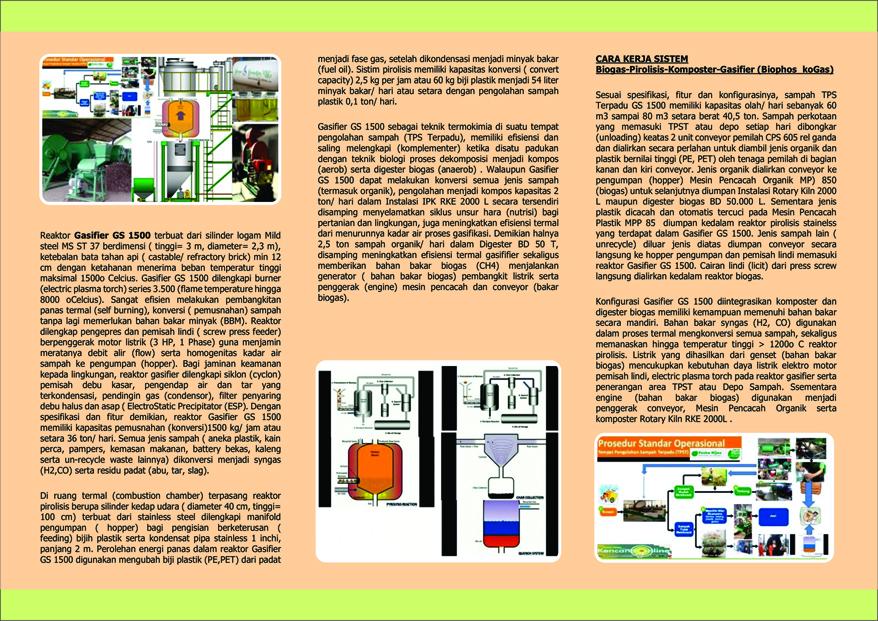 Biodigester Piroliser Komposter Gasifier Reaktor Pirolisis