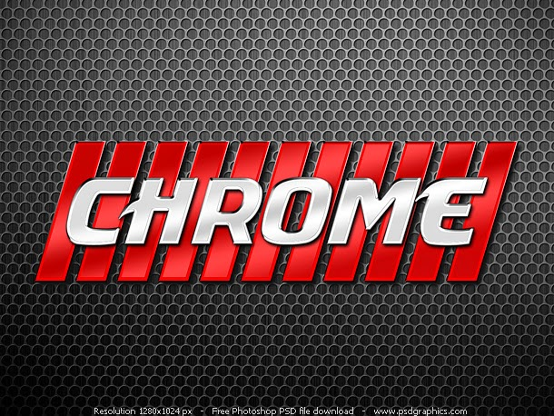 Chrome Letters Style