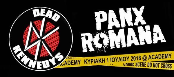DEAD KENNEDYS:  Κυριακή 1 Ιουλίου @ Piraeus 117 Academy με PANX ROMANA