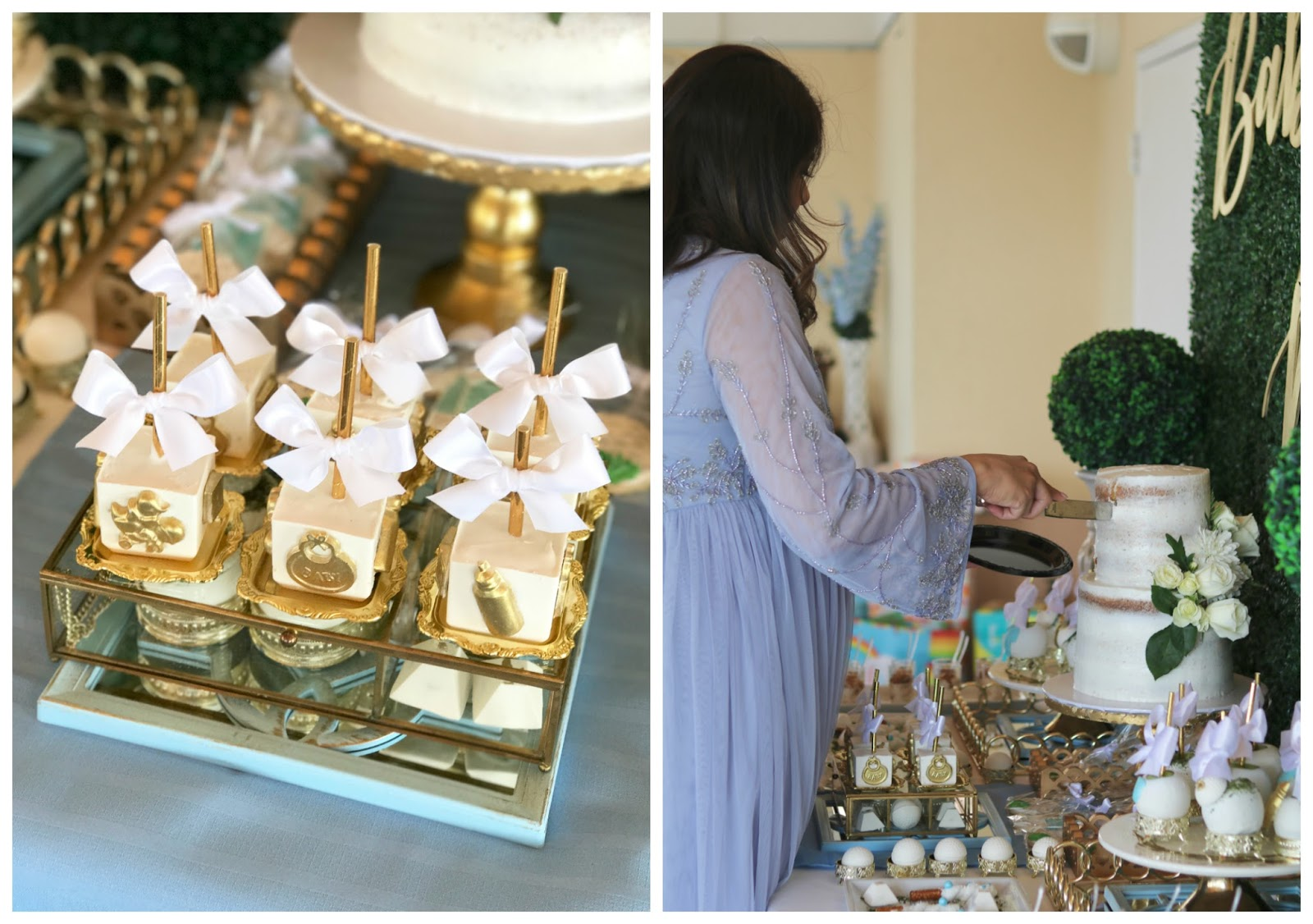 a fashion blogger's baby shower, chic dessert ideas, elegant dessert ideas