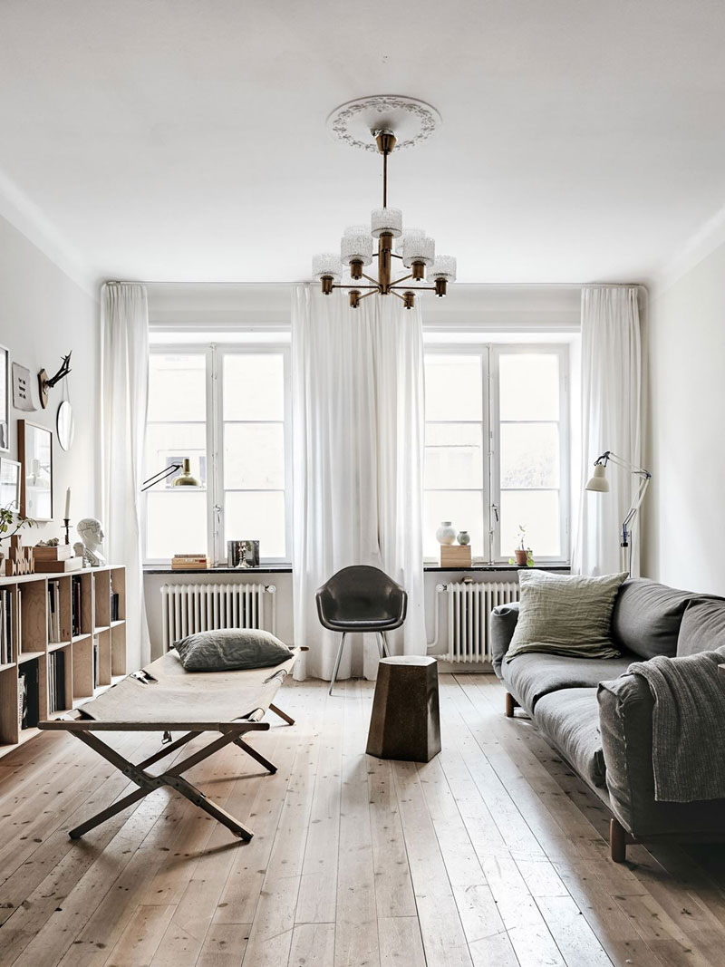 A Scandinavian Apartment With a Vintage Touch