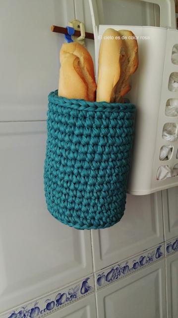 cesta de trapillo para barras de pan