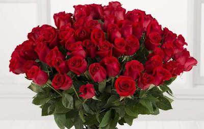 Kumpulan Bunga mawar menjadi buket