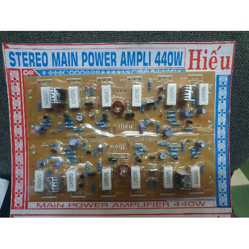 Mạch công suất ampli Hiếu 12 sò 440W