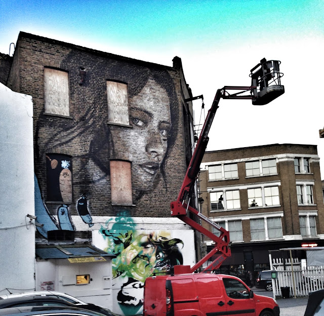 New Street Art Portrait By Australian Artist RONE in East London, United Kingdom. 3