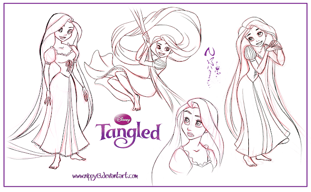 Tangled Rapunzel Coloring Picture