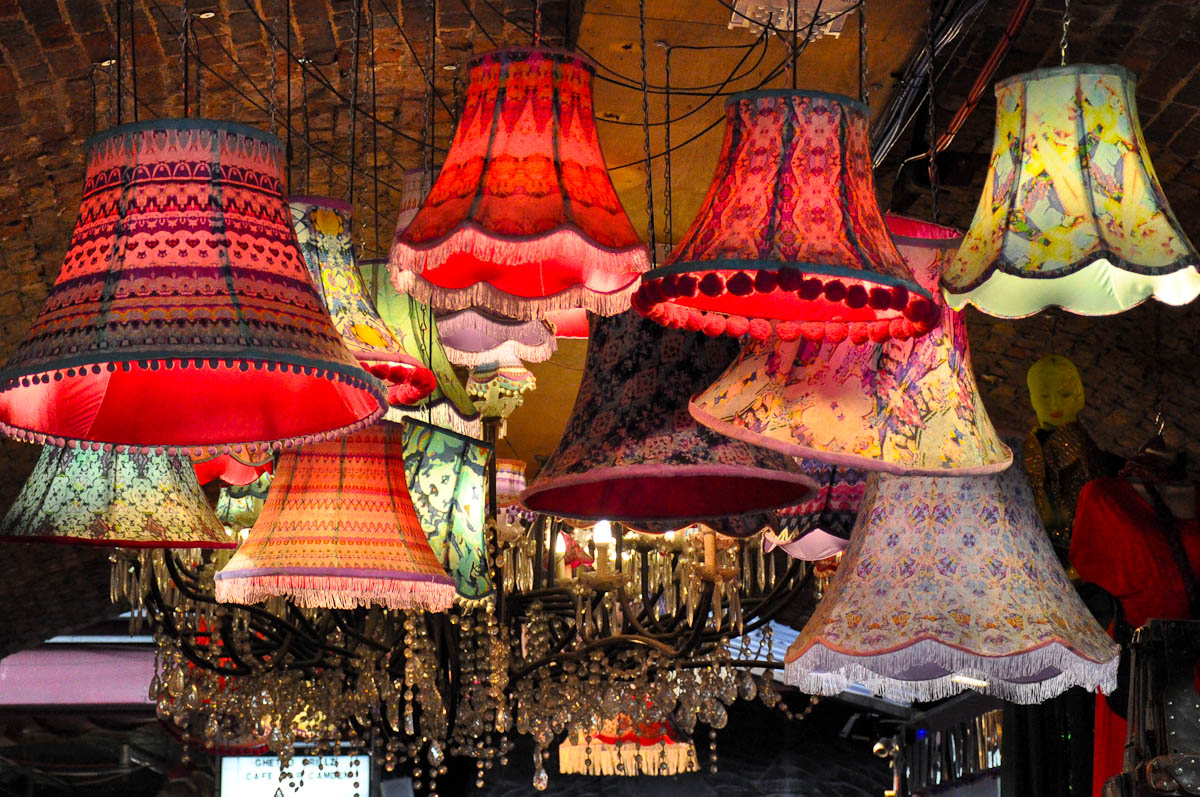 Lampshades, The Stables Market, Camden Town, London, England
