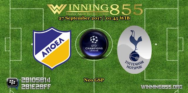 Prediksi Skor Apoel vs Tottenham Hotspur