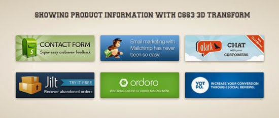 Showing Product Information With CSS3 3D Transform