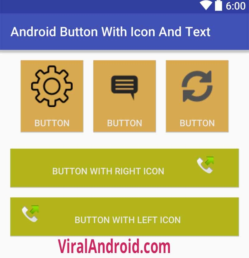 Android Button With Icon And Text Viral Android